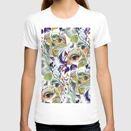 Chic Elegant Artistic Pshychedelic Utopian Painted Eyes T-shirt