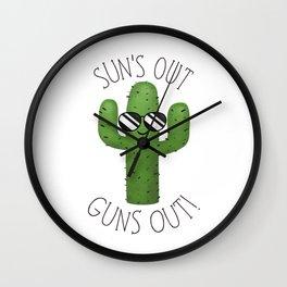 Sun's Out Guns Out! Wall Clock