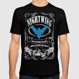 NIGTWING label whiskey style T-shirt