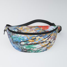 BUTTERFLY - Original abstract painting by HSIN LIN / HSIN LIN ART Fanny Pack