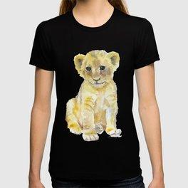 Lion Cub Watercolor T-shirt