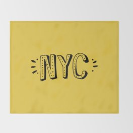 NYC lettering series: #2 Throw Blanket