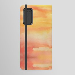 Apricot Sunset Android Wallet Case