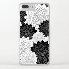 Black and White Mandala Mix Clear iPhone Case