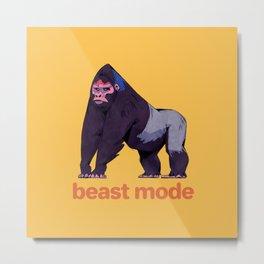 Gorilla - Beast Mode Metal Print