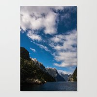 new zealand Canvas Prints featuring New Zealand by Michelle McConnell