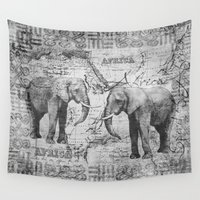 african Wall Tapestries featuring African Spirit by LebensART