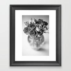 Roses In a Vase[B&W] Framed Art Print