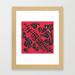 Abstract Leaves in Fuschia Framed Art Print