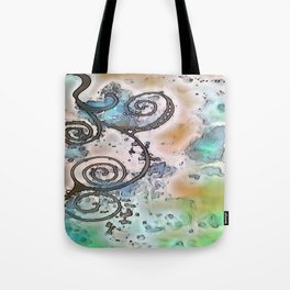 Vintage swirl Tote Bag