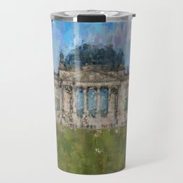 Reichstag, Berlin    /  impressionism style Illustration  / painting abstract landmarks drawing Travel Mug
