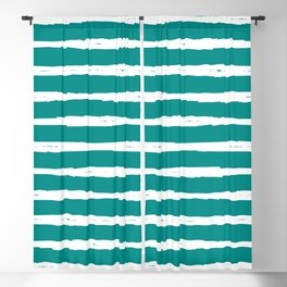 Blue Turquoise Dark Cyan Stripe Blackout Curtain