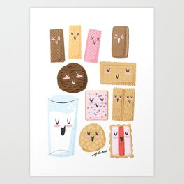 Milk & Aussie Biscuits Art Print