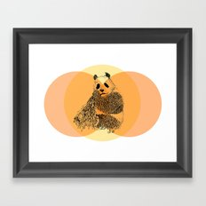 saving panda Framed Art Print