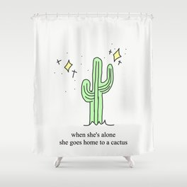 Harry Styles Cactus Shower Curtain