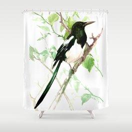Magpie Bird, magpie Shower Curtain
