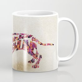 The Dachshund Dog Typography Art / Watercolor Painting Coffee Mug