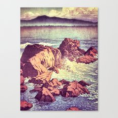 Stopping by the Shore at Uke Canvas Print