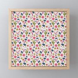 Cactus Folk Print Framed Mini Art Print