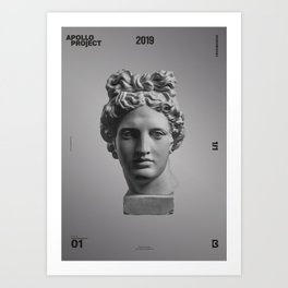 The Minimalist Poster Design #1 Art Print