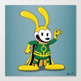 Oswald the Loki Rabbit Canvas Print