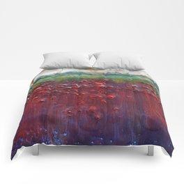 Colors of the Season (christmas abstract) Comforters
