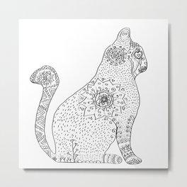 Mandala Cat Metal Print