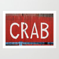 crab Art Prints featuring Crab by Shy Photog