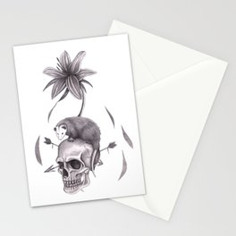 Spring Emergence in White Stationery Cards