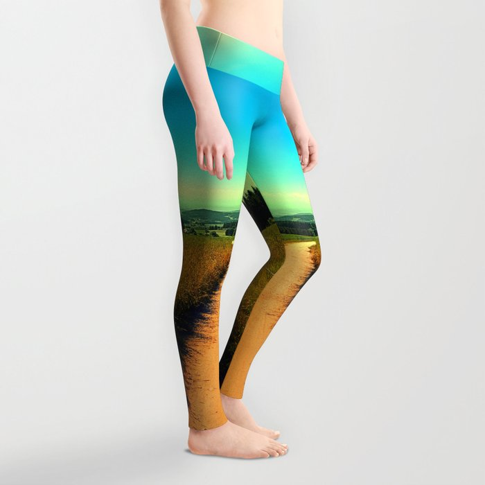 Hiking on a hot afternoon Leggings