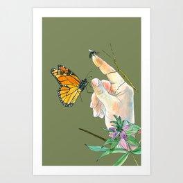 Touching Nature 2 Art Print