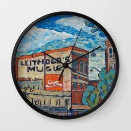 Downtown La Crosse, Wisconsin - Oil Painting Wall Clock