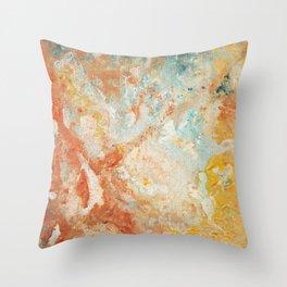 Golden River Throw Pillow