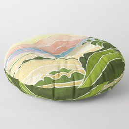 East Bay Devil Mountain in Summer Floor Pillow