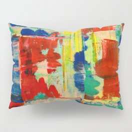 Ice and Heat...polar Opposites!: Abstract Acrylic Painting with neon and bright colors Pillow Sham