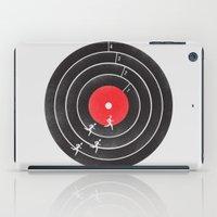 running iPad Cases featuring Vinyl Running by Mateus Quandt