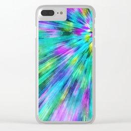 Tie Dye Starburst Clear iPhone Case