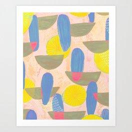 Geometric Deco Pattern Art Print