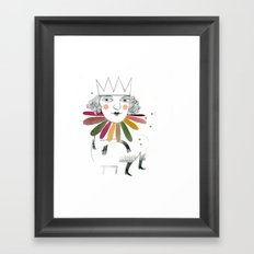 queen margherita Framed Art Print