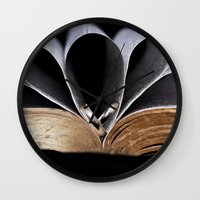 bible Wall Clocks featuring Bible and Rings by EJPandMe