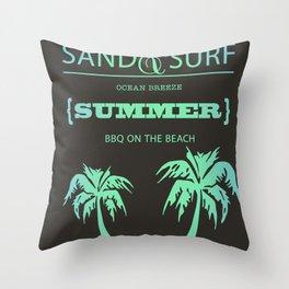 Aqua Summer Throw Pillow