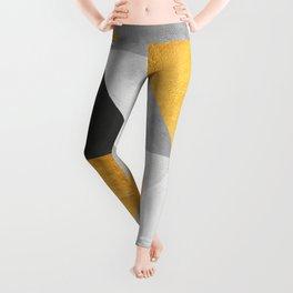 Golden Geometric Art Leggings