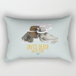 until death do us part (PLASTICOCEANS) Rectangular Pillow