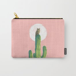 Quirky owl on saguaro cactus Carry-All Pouch
