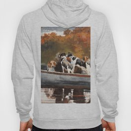 Hunting Dogs In Boat - Digital Remastered Edition Hoody