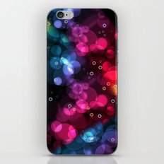 Happy Rainbow Bubbles and Sparkles iPhone & iPod Skin