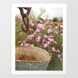 Bucket of Flowers Art Print