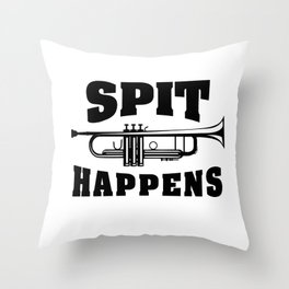 SPIT HAPPENS Throw Pillow