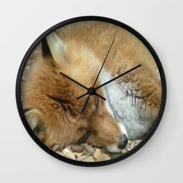 Let sleeping foxes lie Wall Clock