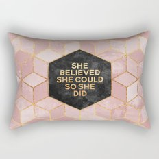 She believed she could so she did Rectangular Pillow
